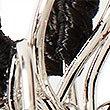 Double Flower Stud Earrings, BLACK MIX, swatch