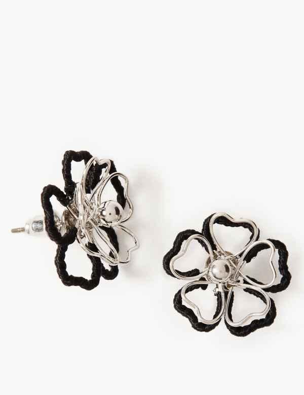1a6f461b5f8e Double Flower Stud Earrings