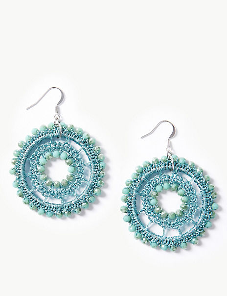 Woven Glitz Drop Earrings