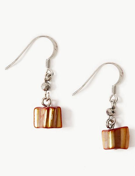 Shell Chip Drop Earrings