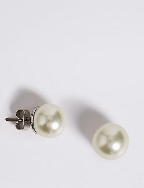 Pearl Effect Stud Earrings