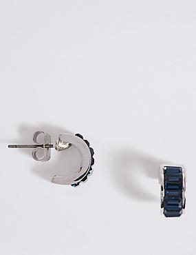 Hoop Earrings With Swarovski® Crystals