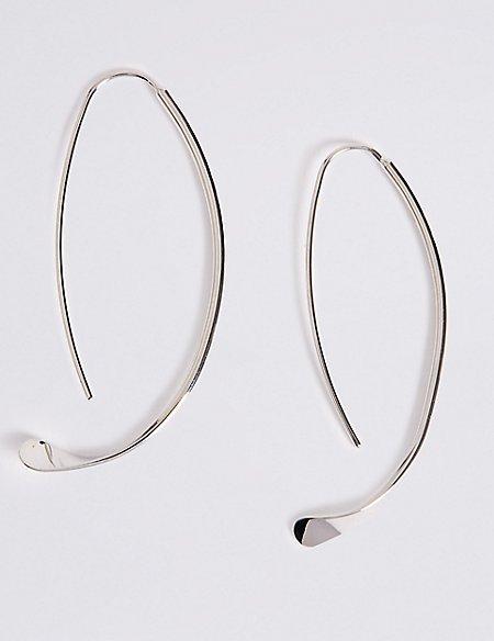 Sleek Through Hoop Earrings