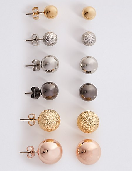 Ball Stud Earrings Set