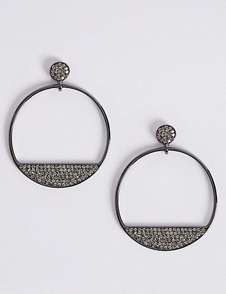 Smiley Hoop Earrings