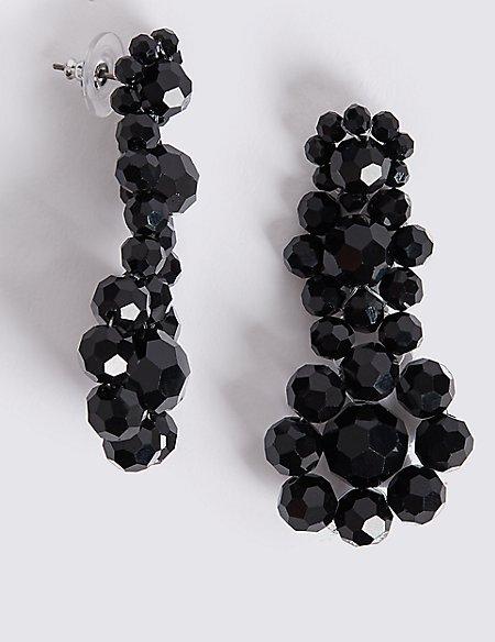 Glass Beads Drop Earrings