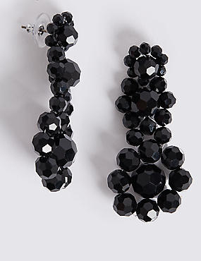 Glass Beads Drop Earrings