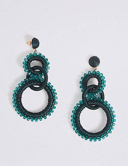 Facet Drop Earrings