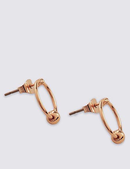Cube Hoop Earrings