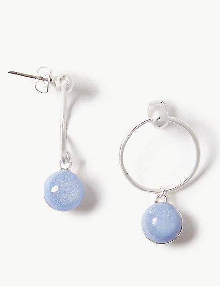 Silver Plated Bead Drop Earrings