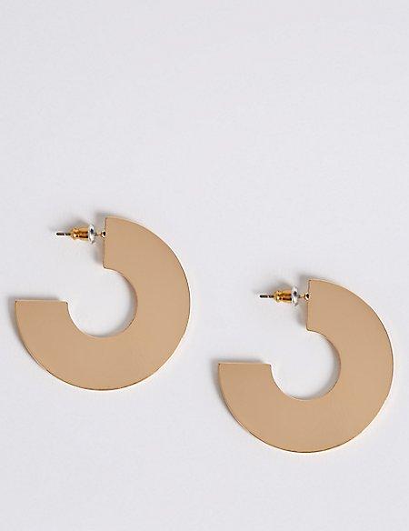 Two Dimensional Hoop Earrings