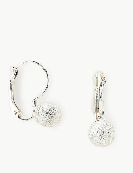 Glitter Ball Drop Earrings