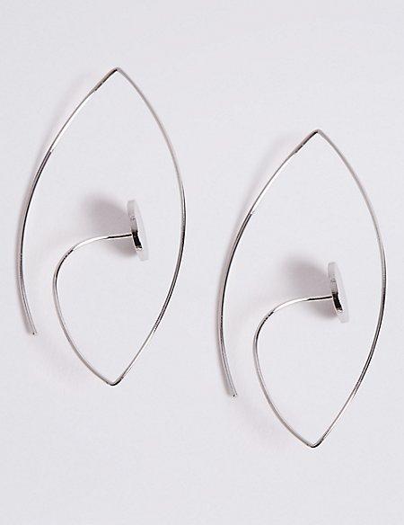 Angled Dot Earrings
