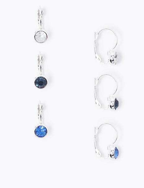 3 Pack Silver Plated Drop Earrings