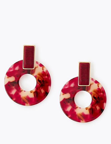 Woven Resin Hoop Earrings