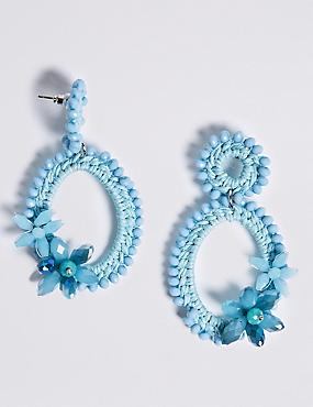 Double Beaded Drop Earrings