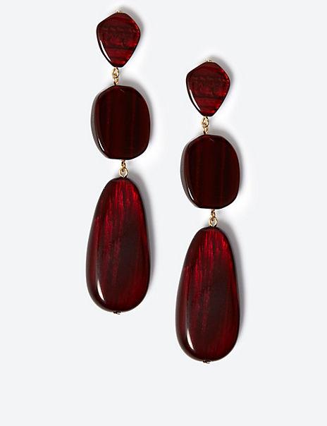 Pebble Trio Drop Earrings