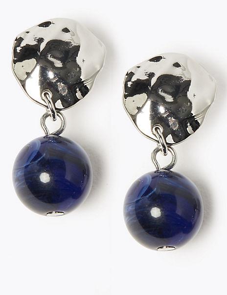 Disc Ball Drop Earrings