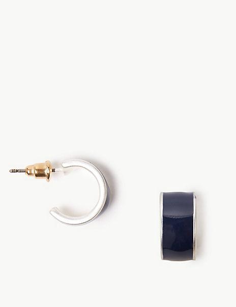 Modern Huggie Hoop Earrings