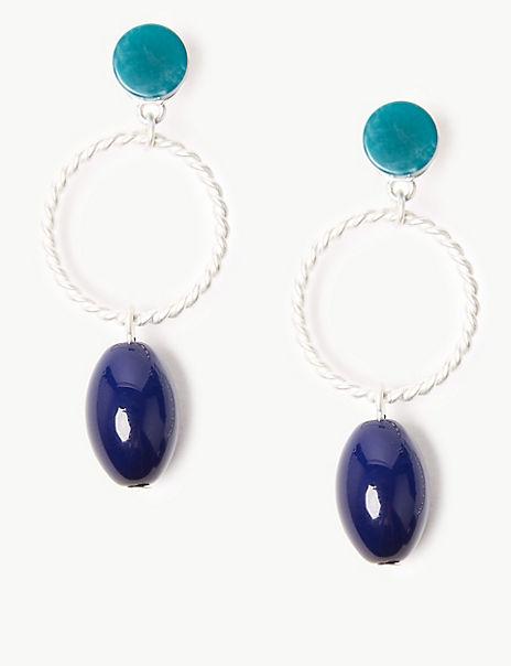 Pebble Ring Drop Earrings