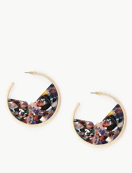 Cut Out Hoop Earrings