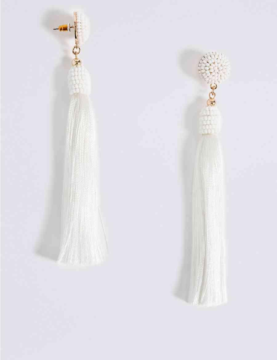 8b0a06c8a6c Beaded Tassel Drop Earrings