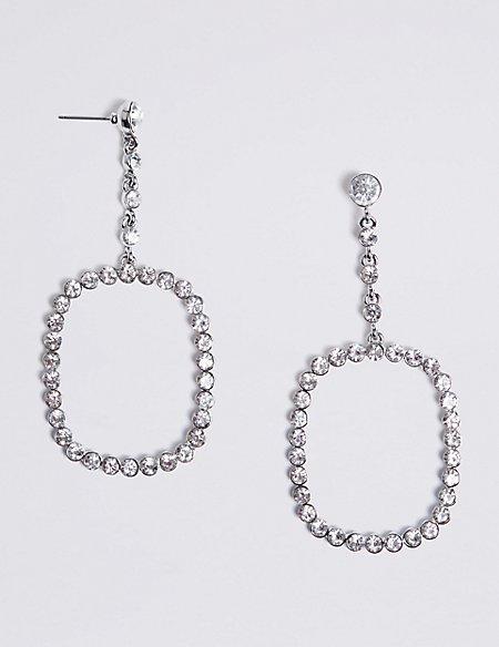 Bling Square Drop Earrings