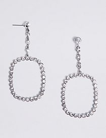 Bling Square Drop Earrings