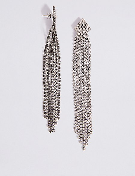 Crystal Shoulder Earrings