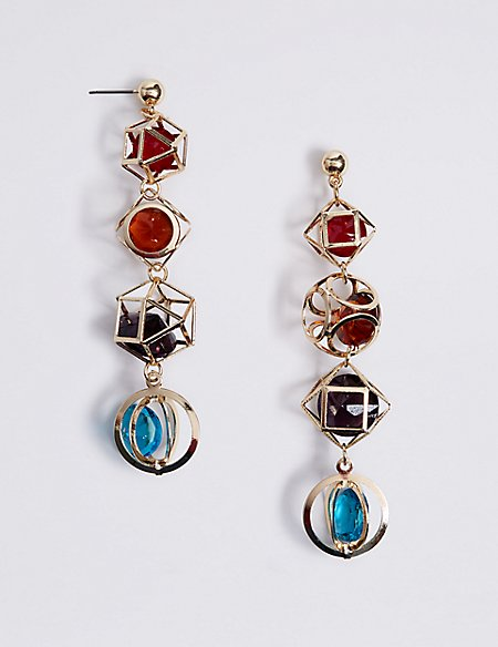 Trapped Gems Drop Earrings