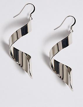 Cork Twist Drop Earrings