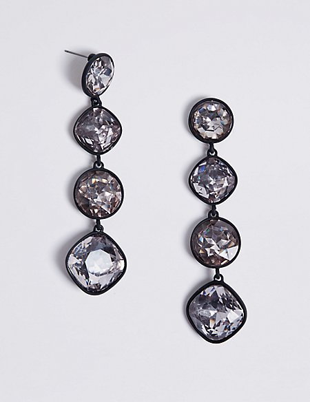 Extravagant Gems Drop Earrings