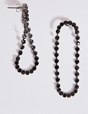Crystal Loop Drop Earrings