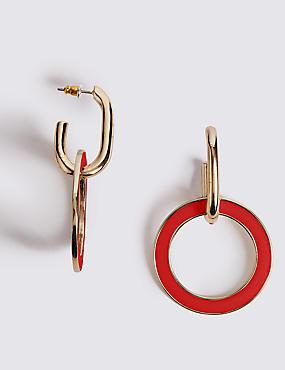 Linked Circle Drop Earrings