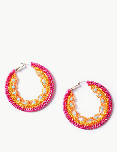 Woven Hoop Earrings