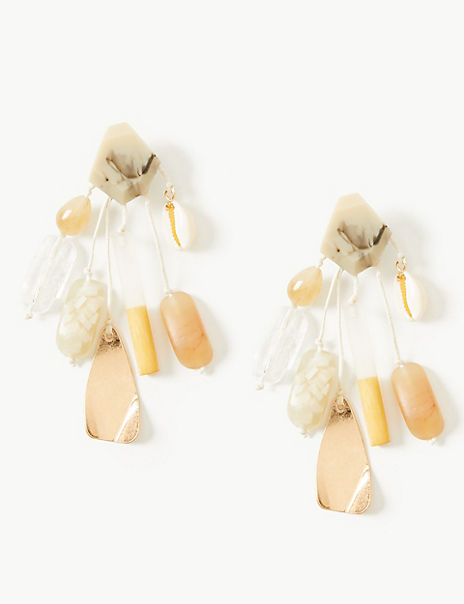 Shell Cluster Drop Earrings