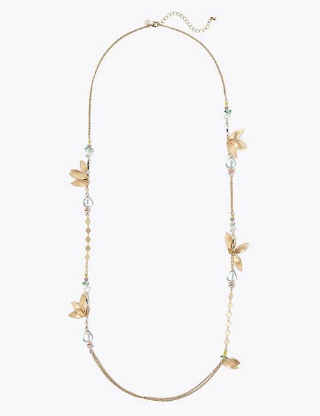 Leaf Cluster Rope Necklace