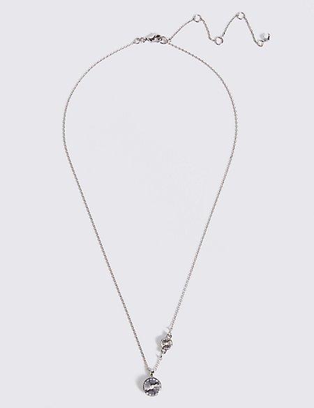 2 Stone Necklace With Swarovski® Crystals