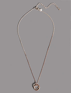 Sterling Silver Triple Ring Necklace