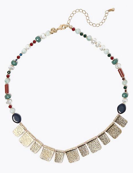 Mini Bead Fan Necklace