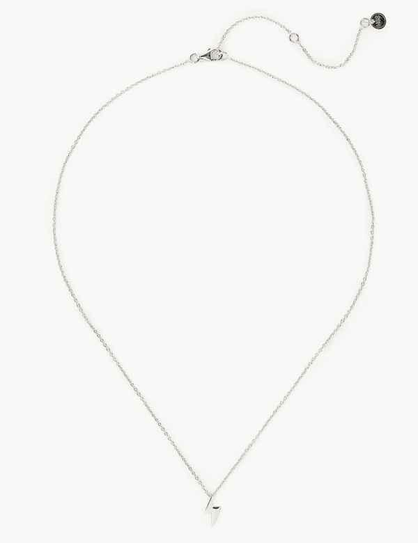 625452312 Sterling Silver Lightening Bolt Necklace