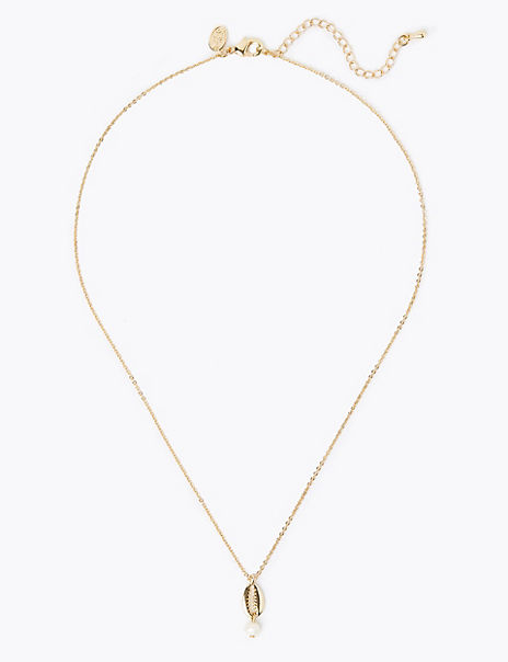 Gold Shell Shape Necklace
