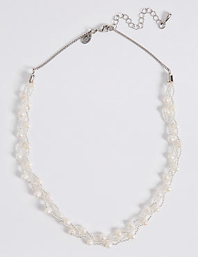 Fresh Water Plaited Necklace