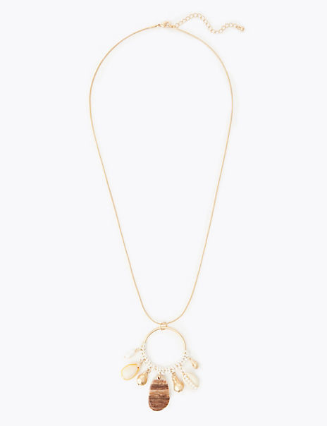 Shell Shape Hoop Pendant Necklaces