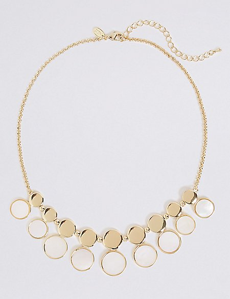 Gold Plated Ornate Circle Necklace