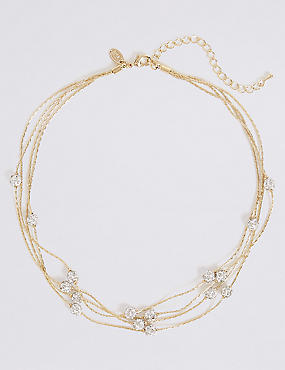 Gold Plated Ball Sparkle Necklace
