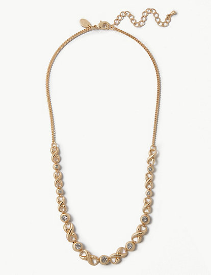 Gold Plated Sparkle Cross Necklace | Jewellery | Marks and Spencer JE