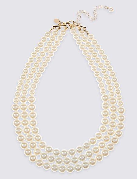 Triple Row Necklace