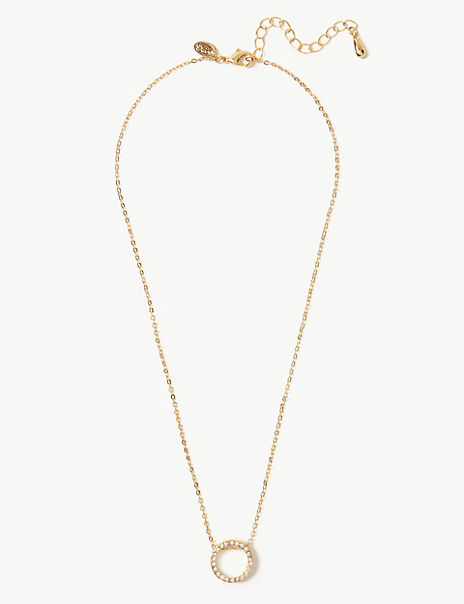 Gold Plated Simple Pendant Necklace