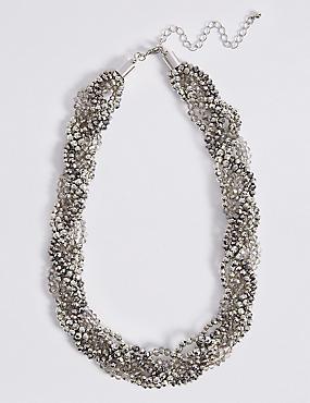 Glitter Twist Plait Necklace